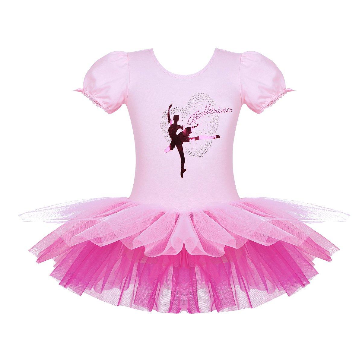 iEFiEL DRESS ガールズ B07F2JCVLH 3-4|Pink&rose Red Pink&rose Red 43528