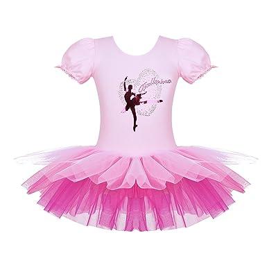 ranrann Vestido Tutú de Danza Clásica para Niña Maillot de Ballet ...