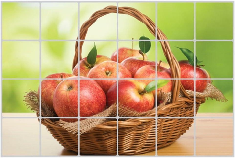 HLDIY Oil Proof Wall Sticker Apples Pattern Decals Kitchen Decoration