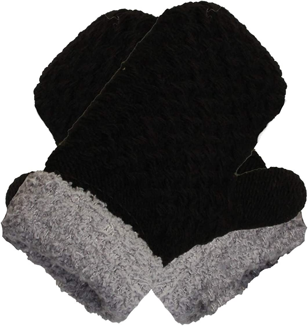 Infant-Toddler 2-3 Years Soft And Warm Fuzzy Interior Lined Mittens 6-Pack