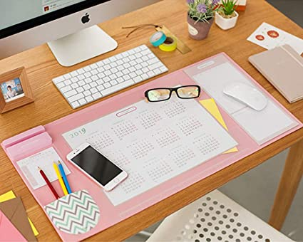 Double-sided Pu Leather Desk Mats Clipboard Table Mats Anti-dirty Computer Keyboard Pad Laptop Full Desk Mat One Pad Two Colors Office & School Supplies Notebooks & Writing Pads