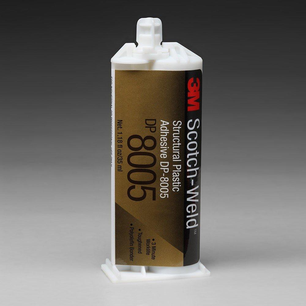 Adesivo bicomponente acrilico 3M DP8005 da 38 ml per plastiche a bassa energia superficiale (PE- PP)