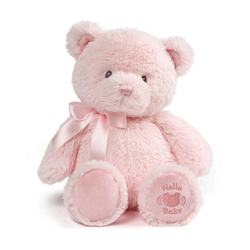 "Baby GUND My First Teddy Sound Toy Stuffed Animal Plush in Pink, 10"""