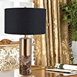 HOMEE Ideal reading light-- simple modern black pattern marble table lamp living room bedroom bedside table lamp --desk and bedside lighting