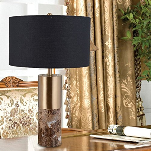 HOMEE Ideal reading light-- simple modern black pattern marble table lamp living room bedroom bedside table lamp --desk and bedside lighting by HOMEE