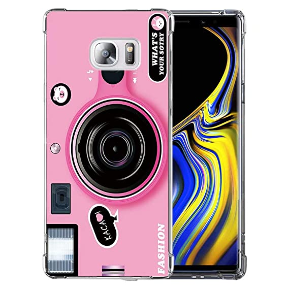 huge selection of 96b72 b796b Amazon.com: for Galaxy S7 Pink Retro Camera Case, QKKE 3D Cool ...