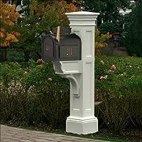 Mayne 5805-WH Liberty Mailbox Post, White by Mayne