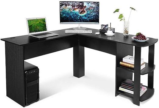 Escritorio de oficina en forma de L para ordenador - Mesa grande ...