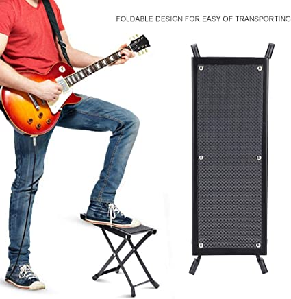 4 Posiciones Antideslizante Plegable Metal Taburete Reposapi/és de Guitarra Soporte Pedal Dilwe Ajustable Reposapi/és de Guitarra