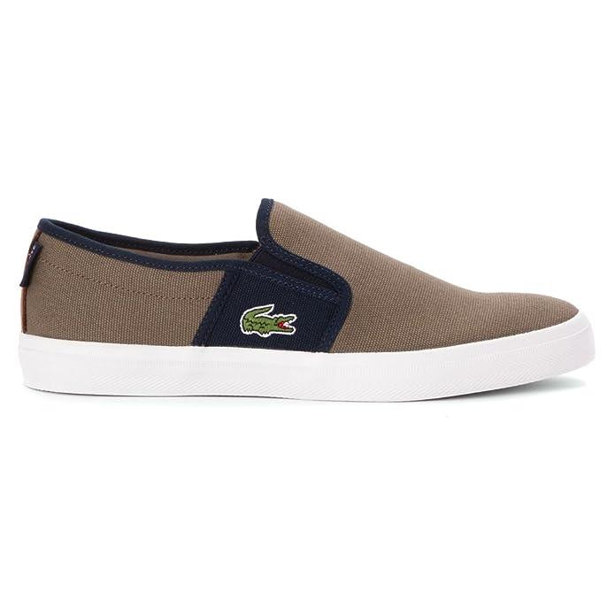 551a7b14e51ade Lacoste Men s Gazon Sport Sep SPM Canvas Light Brown Dark Blue Ankle-High  Fashion Sneaker - 9.5M  Lacoste  Amazon.ca  Shoes   Handbags