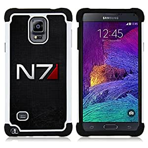 - N7 Space Command/ H??brido 3in1 Deluxe Impreso duro Soft Alto Impacto caja de la armadura Defender - SHIMIN CAO - For Samsung Galaxy Note 4 SM-N910 N910