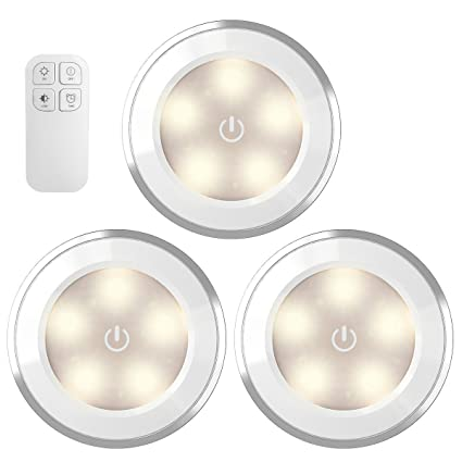 Amir Wireless Led Puck Light With Remote Control Under Cabinet