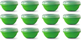 product image for Preserve Reusable BPA Free 19 ounce Small Food Storage Container with Screw Top Lid, Bulk Set of 12, Apple Green