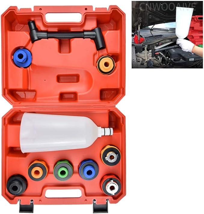 Cnwooaive Motoröltrichter Auto Motoröl Trichter Füllsatz Trichteradapter Zum Ablassen Von Öl Aus Pkw Lkw Motorrädern Van Auto