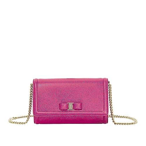 c7208de2b5 Salvatore Ferragamo women s clutch with shoulder strap handbag bag purse  vara f  Amazon.co.uk  Shoes   Bags
