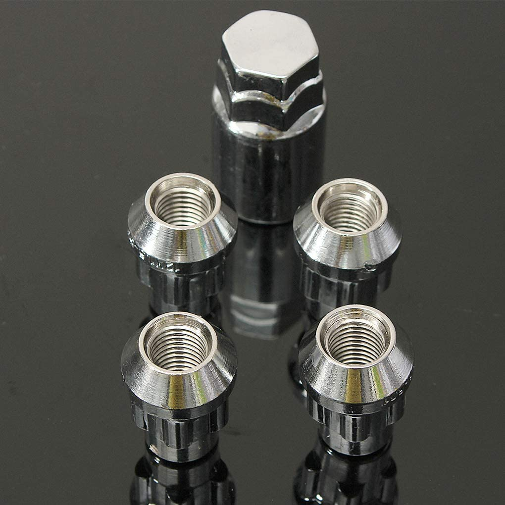 1PCS Sicurezza Bulloni /& Key antifurto LEVEL GREAT 4PCS Calore Acciaio trattato 12 x 1,5 Millimetri in Lega di bloccaggio delle Ruote Dadi 60 /°