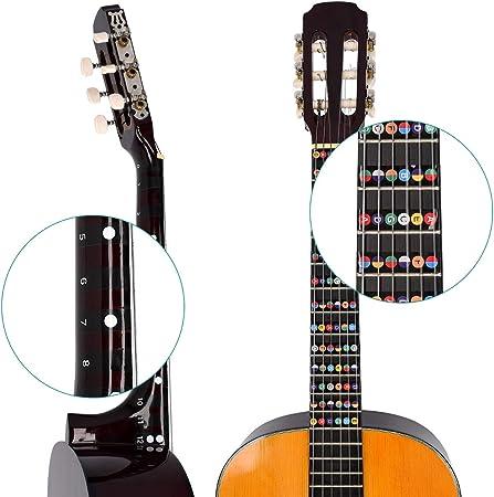 kwmobile Adhesivos para aprender a tocar la guitarra - Pegatinas ...