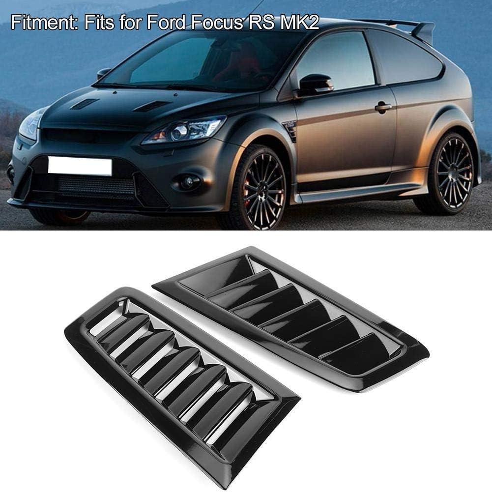 Dingln Auto Coche ABS Capo Salida De Aire Modificado Adapta Accesorios For F-o-r-d Focus RS MK2 Negro Brillante