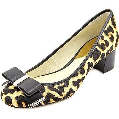 01abb6c4dab4 MICHAEL Michael Kors Women s Kiera Mid Pump Natural Cheetah  Haircalf Vachetta 5 M US
