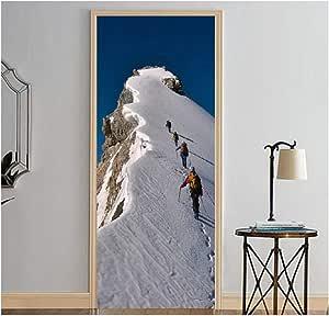 2 Paneles Escalada Nieve Montaña Imagen Etiqueta de la Puerta ...