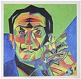 3dRose Greeting Cards, Dali with Ocelot and Cane, Dali, Salvador Dali, Ocelot, Portrait, Man, Male, Cat, Set of 6 (gc_46752_1)