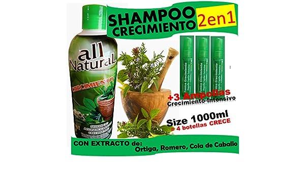 Amazon.com: CRECIMIENTO BIG (shampoo cre-c) 2 in 1 and 3 Ampollas: Beauty