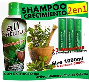 CRECIMIENTO BIG (shampoo cre-c) 2 in 1 and 3 Ampollas
