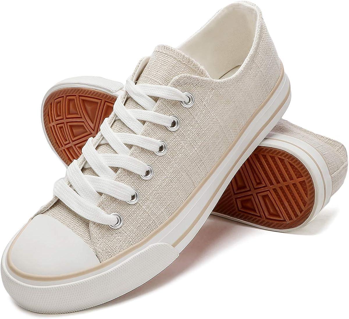 ZGR Women Canvas Sneakers Low Cut Casual Walking Shoes