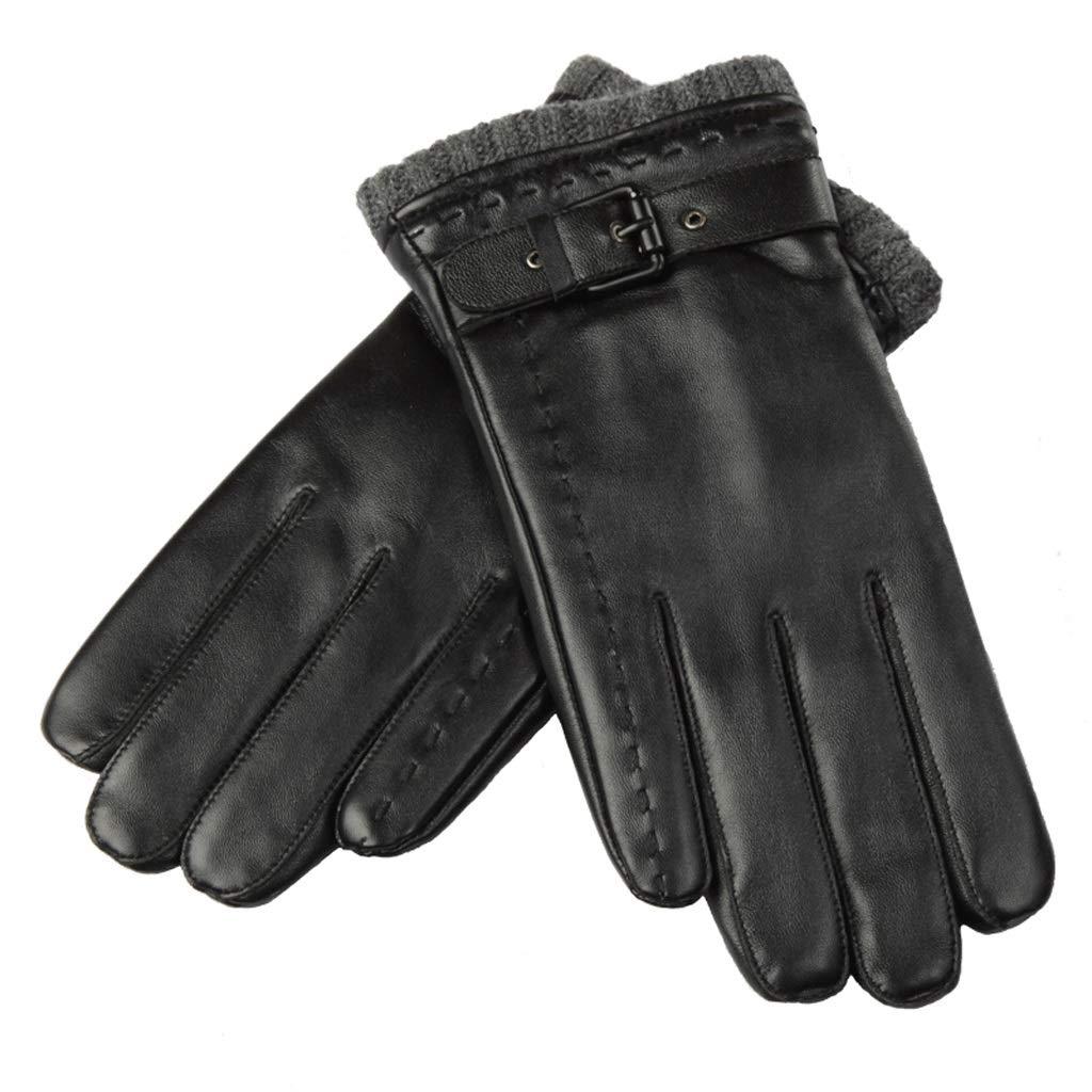 Gloves HG Lederhandschuhe Männer Winter Warm Halten Handschuhe Touchscreen Winddicht Wasserdicht Handschuhe