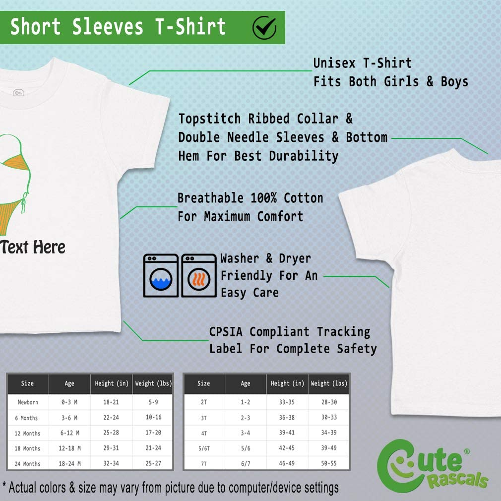 Custom Baby /& Toddler T-Shirt Bikini Cotton Boy /& Girl Clothes Funny Graphic Tee