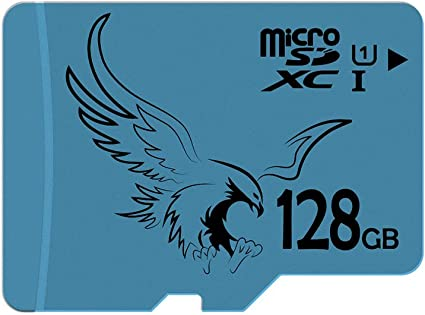 BRAVEEAGLE Micro SD Card 128GB Class 10 U1 microSDXC Card with SD Adapter for Wyze Cam/Tablet/Drone (128GB U1)