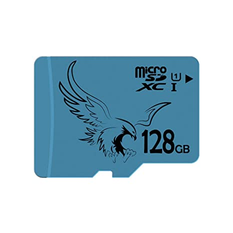 BRAVEEAGLE Micro SD Card 128GB Class 10 U1 microSDXC Card with SD Adapter  for Wyze Cam/Tablet/Drone (128GB U1)