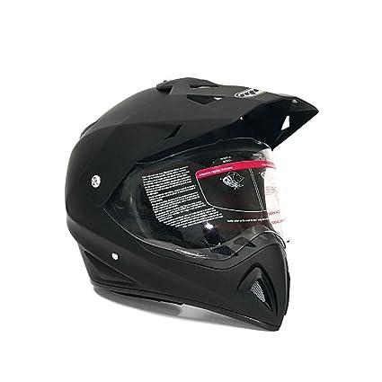 Dirt Bike Helmet With Visor >> Helmet Dual Sport Off Road Motorcycle Dirt Bike Atv Flipup Visor 27v Matte Black Large