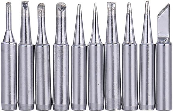 10x Solder Soldering Iron Tip 900M-T-SI Lead Free For Saike Hakko 913 951 898D