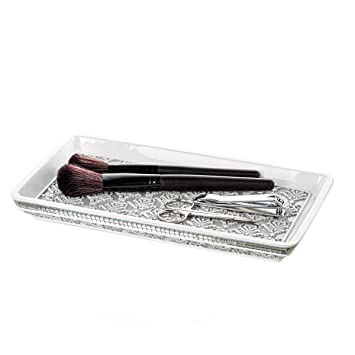 Amazoncom Creative Scents Mirror Damask Vanity Tray for Bathroom