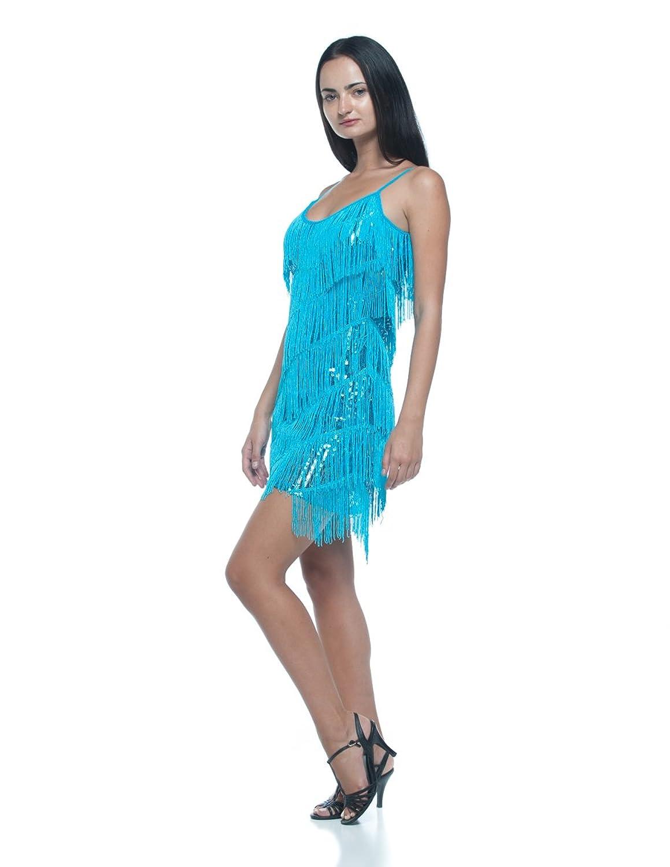 Amazon.com: Women\'s Tiered Fringe Sequin Flapper Vintage Style 20s ...