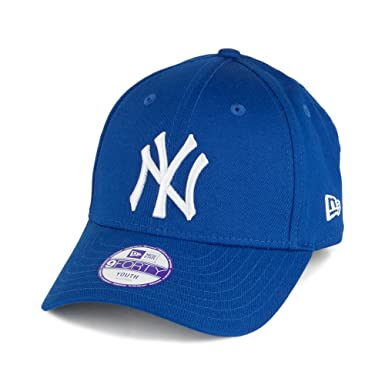 5de1917c5c4 New Era Kids 9FORTY New York Yankees Baseball Cap - MLB League Basic - Blue  YOUTH