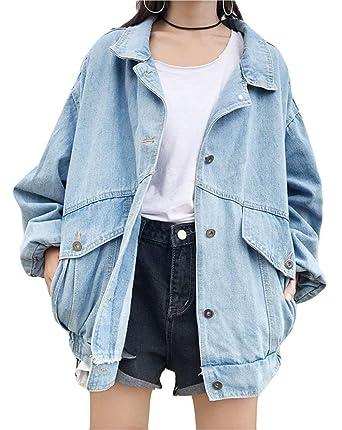 buy cheap 7a5e8 89961 Jeansjacke Damen Aufnäher Longsleeve Jeans Jacke Frühling ...