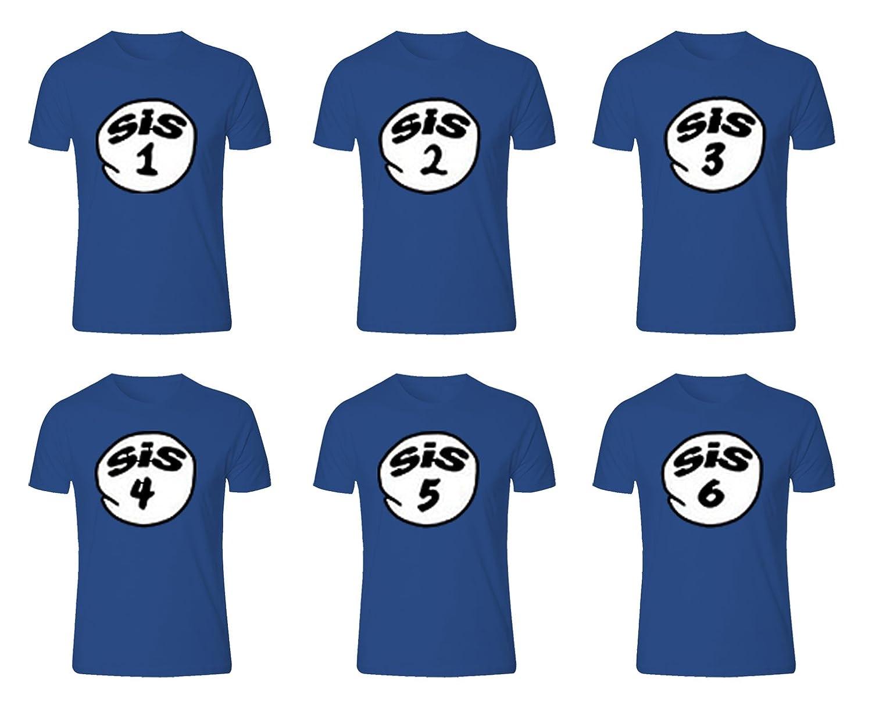 Sis 1, 2, 3, 4, 5, 6 Sister 6 Regular T-Shirt for Lovely Sister
