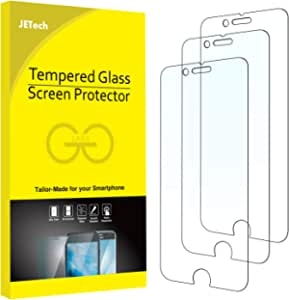 JETech 3-Pack Screen Protector for iPhone 8 Plus, iPhone 7 Plus, iPhone 6s Plus and iPhone 6 Plus, Tempered Glass Film, 5.5-Inch