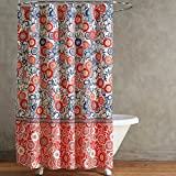 Arabella Shower Curtain by Style Lounge, Coral, 72 inch by 72 inch