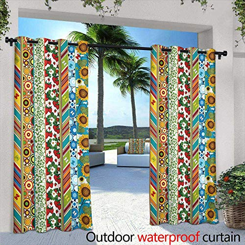 (Lightly Exterior/Outside Curtains,Dawn at Cabo San Lucas Sunrise Wallpaper,W108 x L84 Silver Grommet Top Drape)