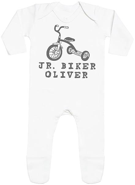 Spoilt Rotten Personalizados bebé JR. Biker Custom Name with Feet - Peleles Personalizados para bebé - Regalos Personalizados para bebé: Amazon.es: Ropa y ...
