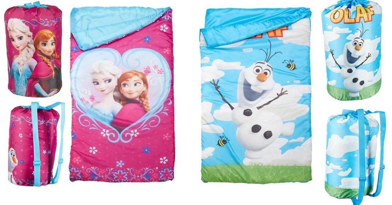 Disney Frozen Indoor Sleeping Slumber Bag in Printed Drawstring Bag X 2 Set (1 X Elsa Anna and 1 X Olaf)