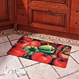 Ustide Floor Rug For Laundry Room Colorful Vegetable And Fruit Kitchen Rug  Waterproof Rug, No Nice Design