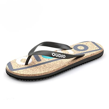 06f99b210 Amazon.com : BBG Summer flip Flops Men's Shoes, Non-Slip Men's Slippers,  flip-Flops, Fashion Outdoor Beach Shoes, Black, 42 : Sports & Outdoors