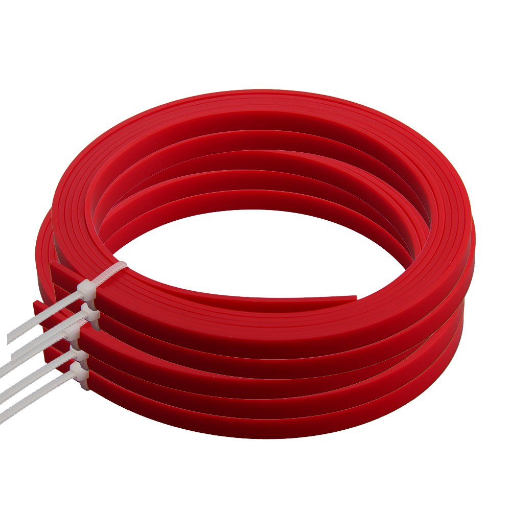 Kmise Z4854H5 5 Pieces 5' Red ABS Acoustic Guitar Binding Purfling Strip 6mm x 1.5mm Body Project