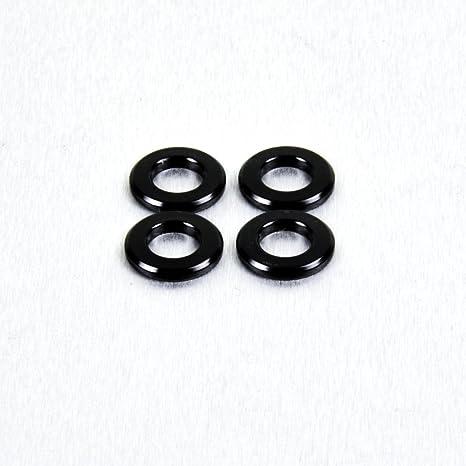 1 Pcs M6 Black T6 Aluminium Colorful Flat Washer For Motorcycle Sportbike Bodywork 1 Pcs, M6 black