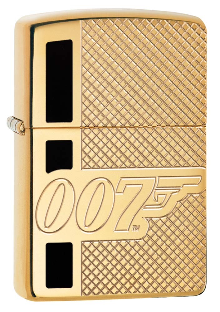 Zippo James Bond 007 Armor High Polish Brass Pocket Lighter