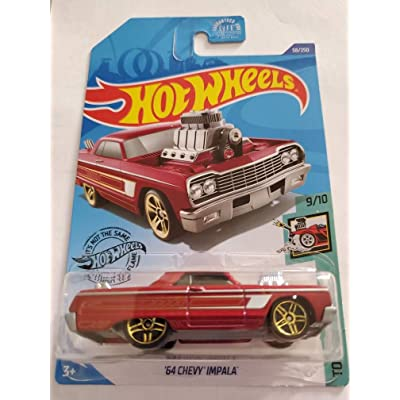 Hot Wheels 2020 Tooned '64 Chevy Impala, Red 58/250: Toys & Games